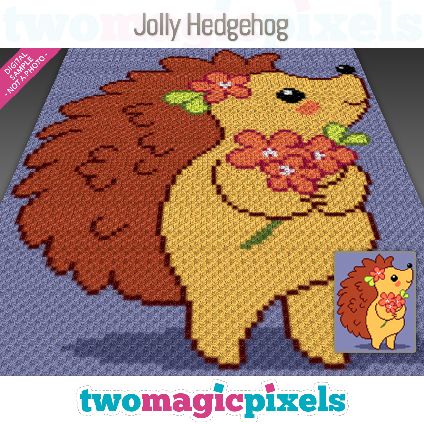 Jolly Hedgehog by Two Magic Pixels