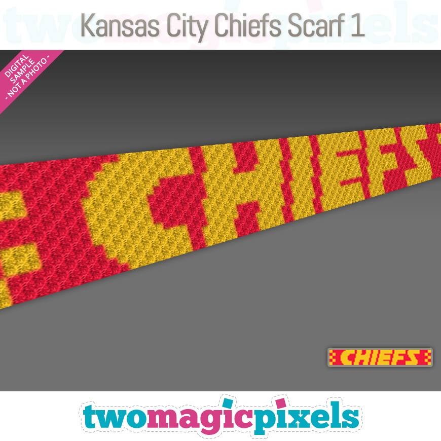 Kansas City Chiefs Scarf 1 by Two Magic Pixels