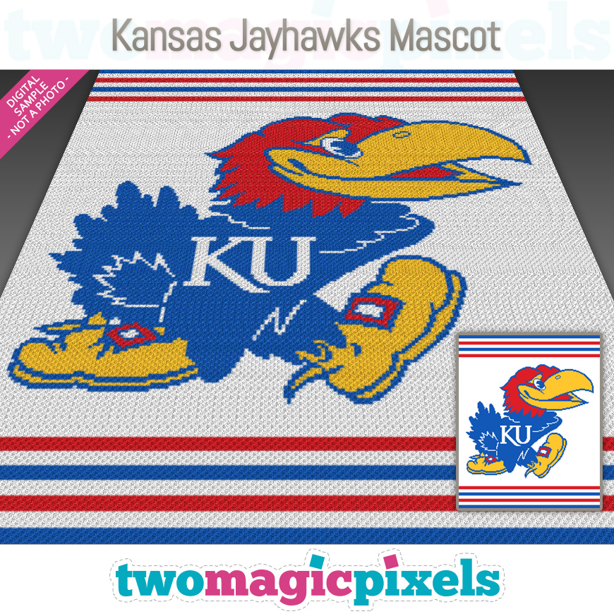 Kansas Jayhawks Mascot by Two Magic Pixels