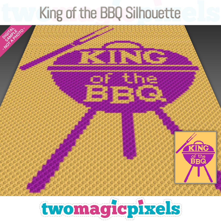King of the BBQ Silhouette by Two Magic Pixels