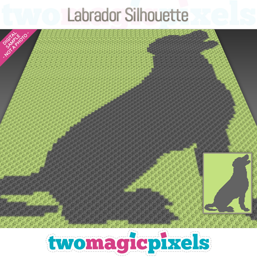 Labrador Silhouette by Two Magic Pixels