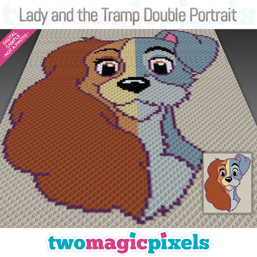 Lady and the Tramp Double Portrait by Two Magic Pixels