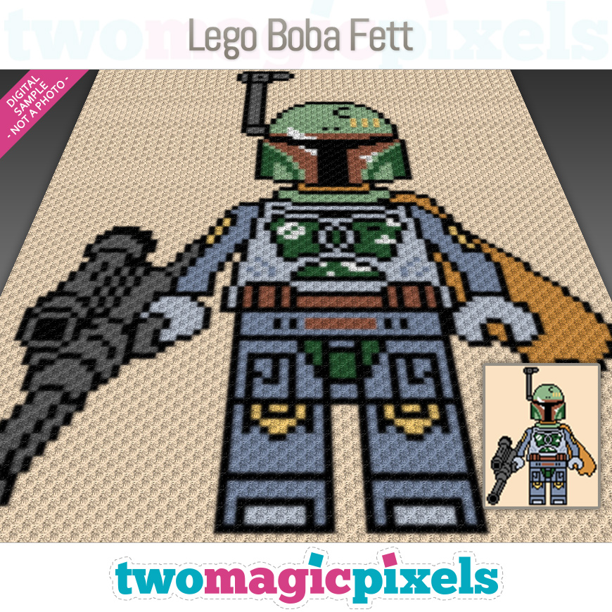 Lego Boba Fett by Two Magic Pixels