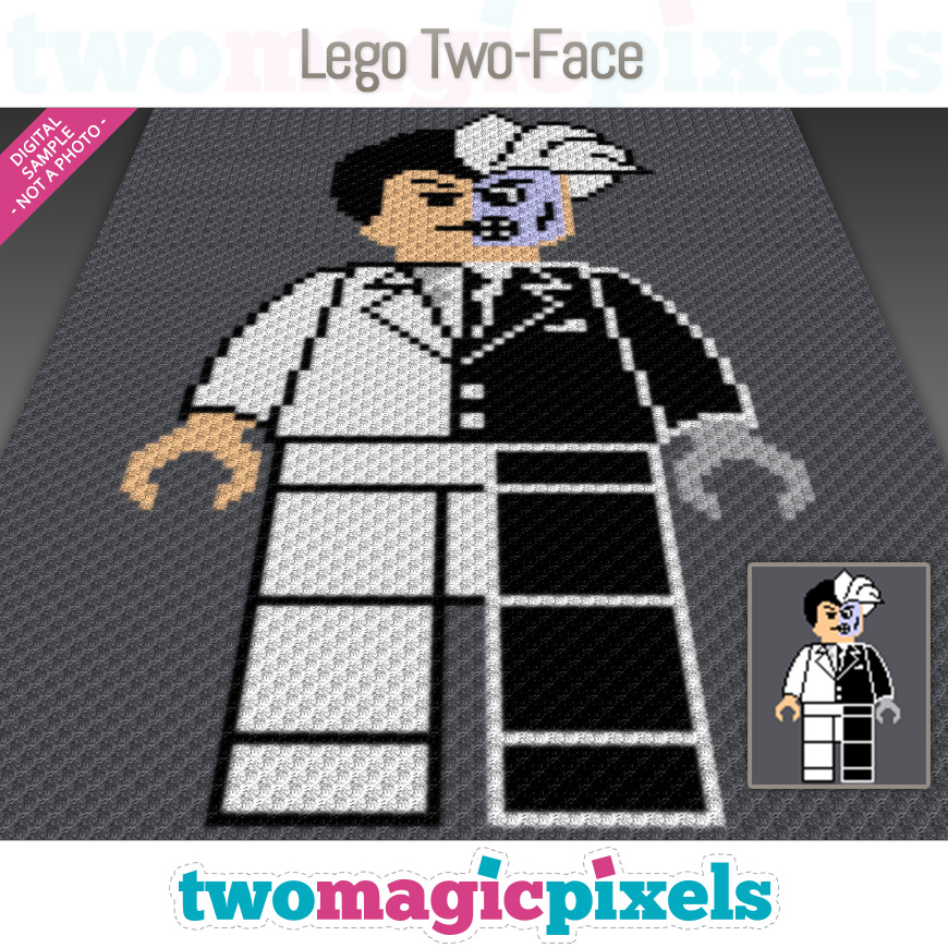 Lego Two-Face by Two Magic Pixels