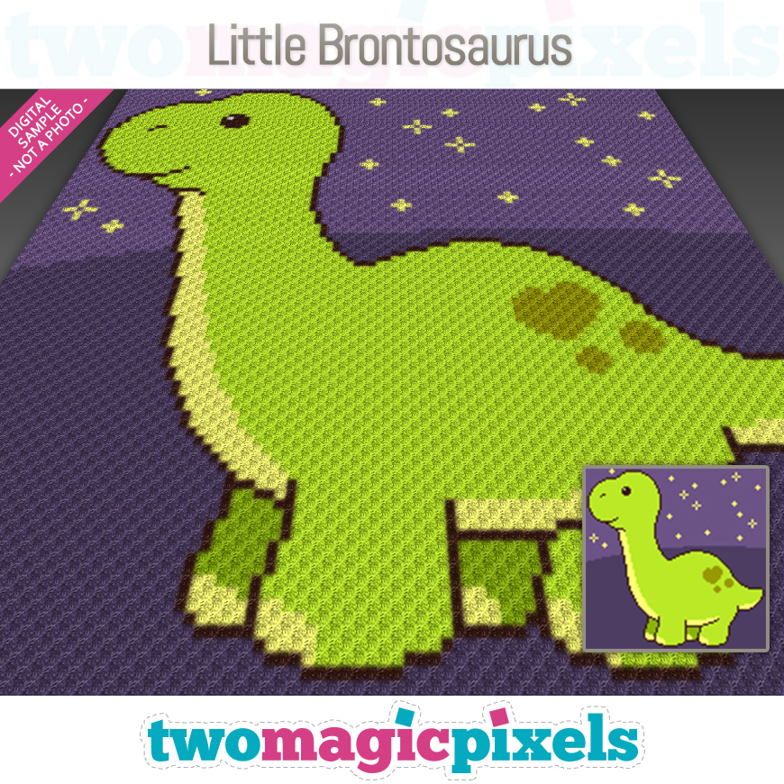 Little Brontosaurus by Two Magic Pixels
