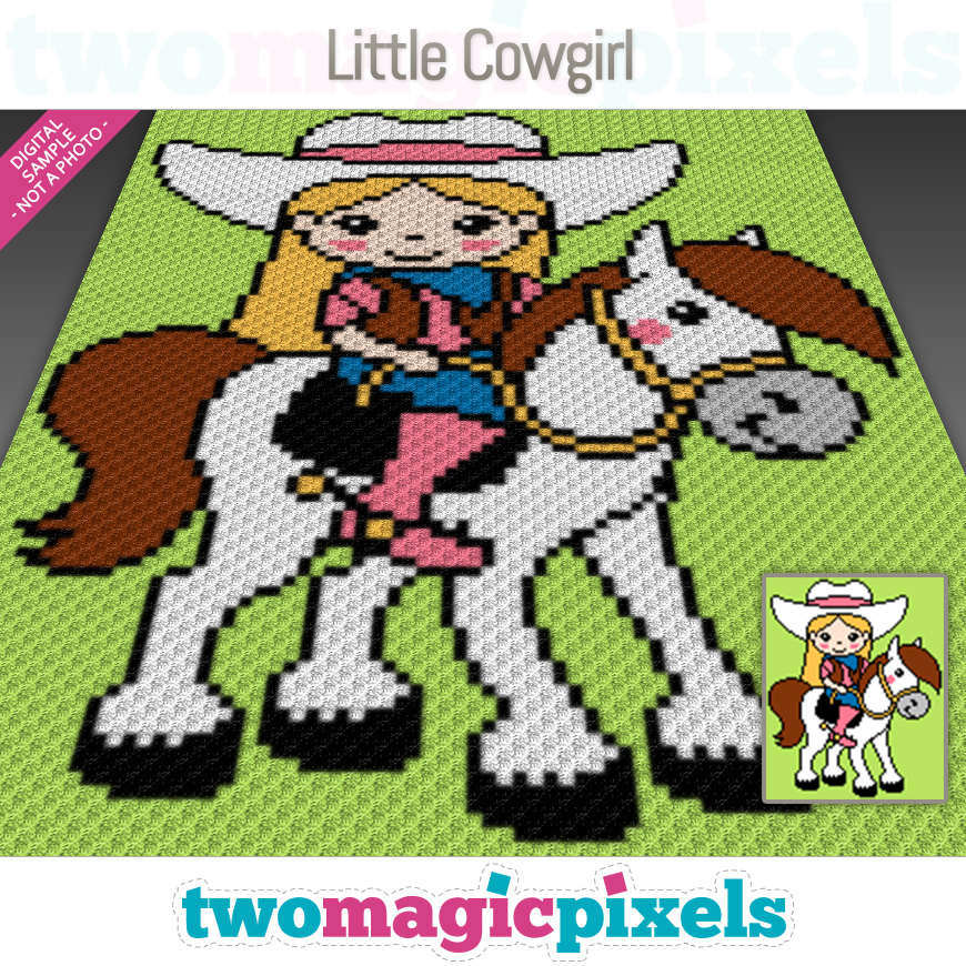 Little Cowgirl by Two Magic Pixels