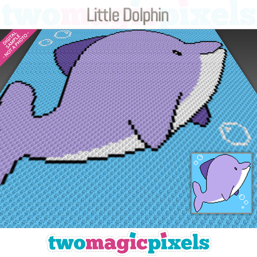 Little Dolphin by Two Magic Pixels