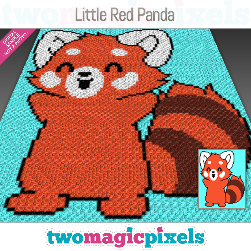 Little Red Panda by Two Magic Pixels
