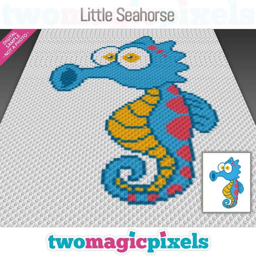Little Seahorse by Two Magic Pixels