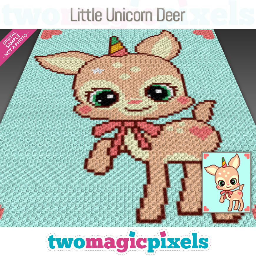 Little Unicorn Deer by Two Magic Pixels
