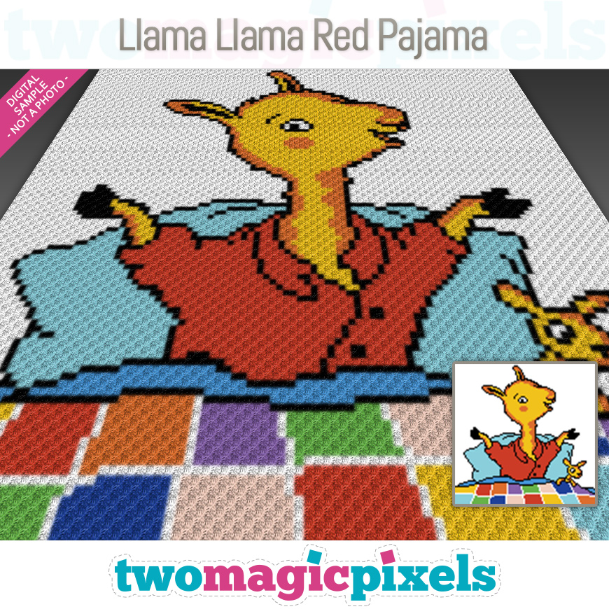 Llama Llama Red Pajama by Two Magic Pixels
