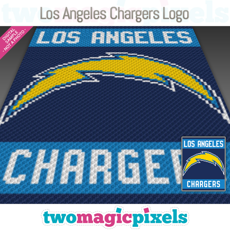 Los Angeles Chargers Logo by Two Magic Pixels