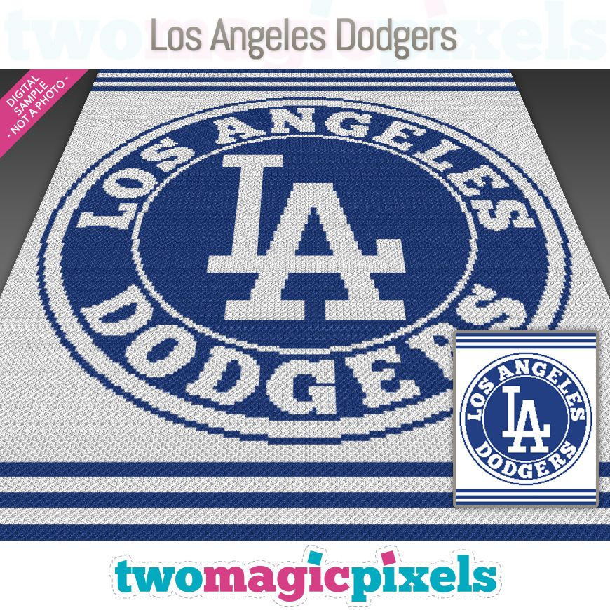 Los Angeles Dodgers by Two Magic Pixels