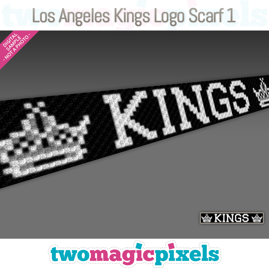 Los Angeles Kings Scarf 1 by Two Magic Pixels