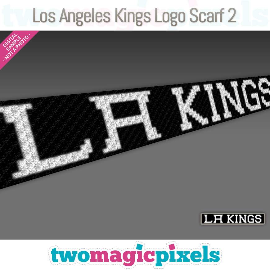 Los Angeles Kings Scarf 2 by Two Magic Pixels
