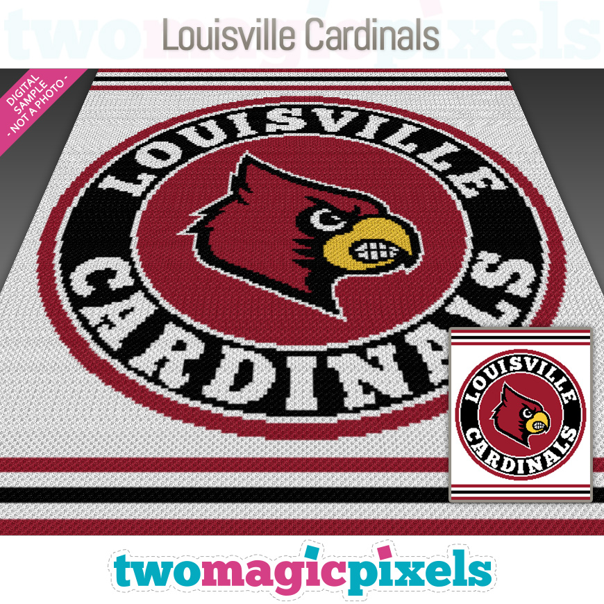 Louisville Cardinals by Two Magic Pixels