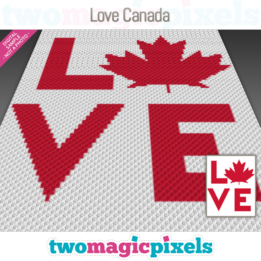 Love Canada by Two Magic Pixels