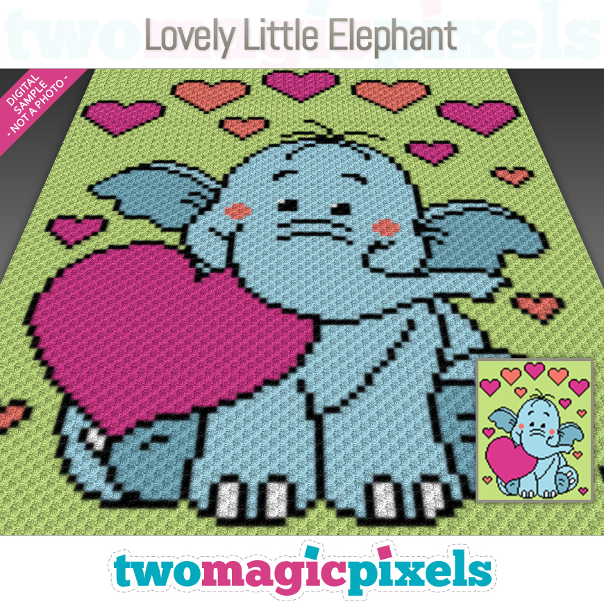 Lovely Little Elephant by Two Magic Pixels