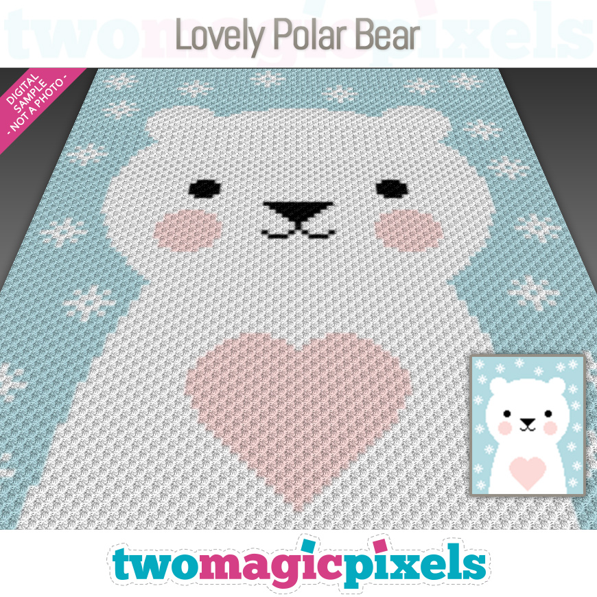 Lovely Polar Bear by Two Magic Pixels