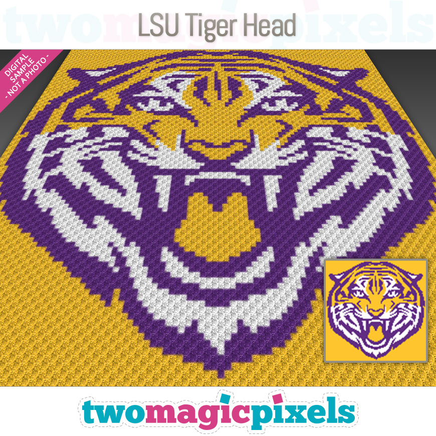 LSU Tiger Head by Two Magic Pixels
