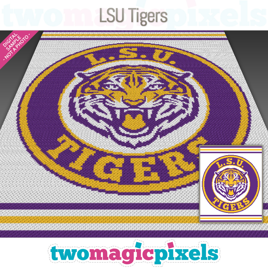 LSU Tigers by Two Magic Pixels