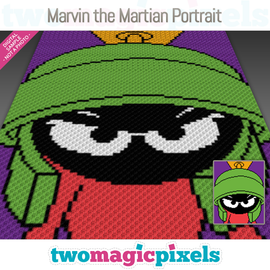 Marvin the Martian Portrait by Two Magic Pixels