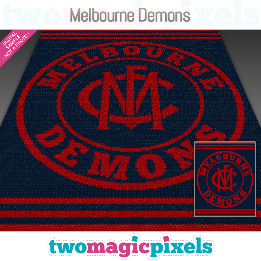 Melbourne Demons by Two Magic Pixels