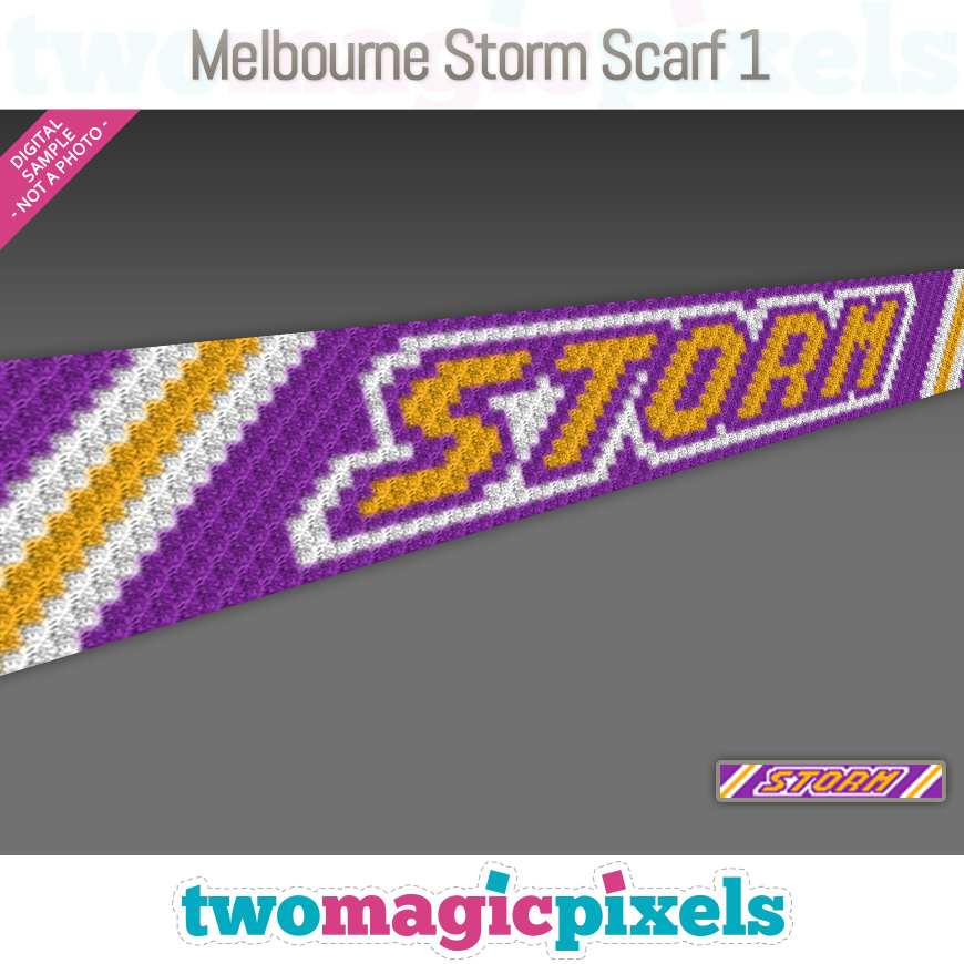 Melbourne Storm Scarf 1 by Two Magic Pixels