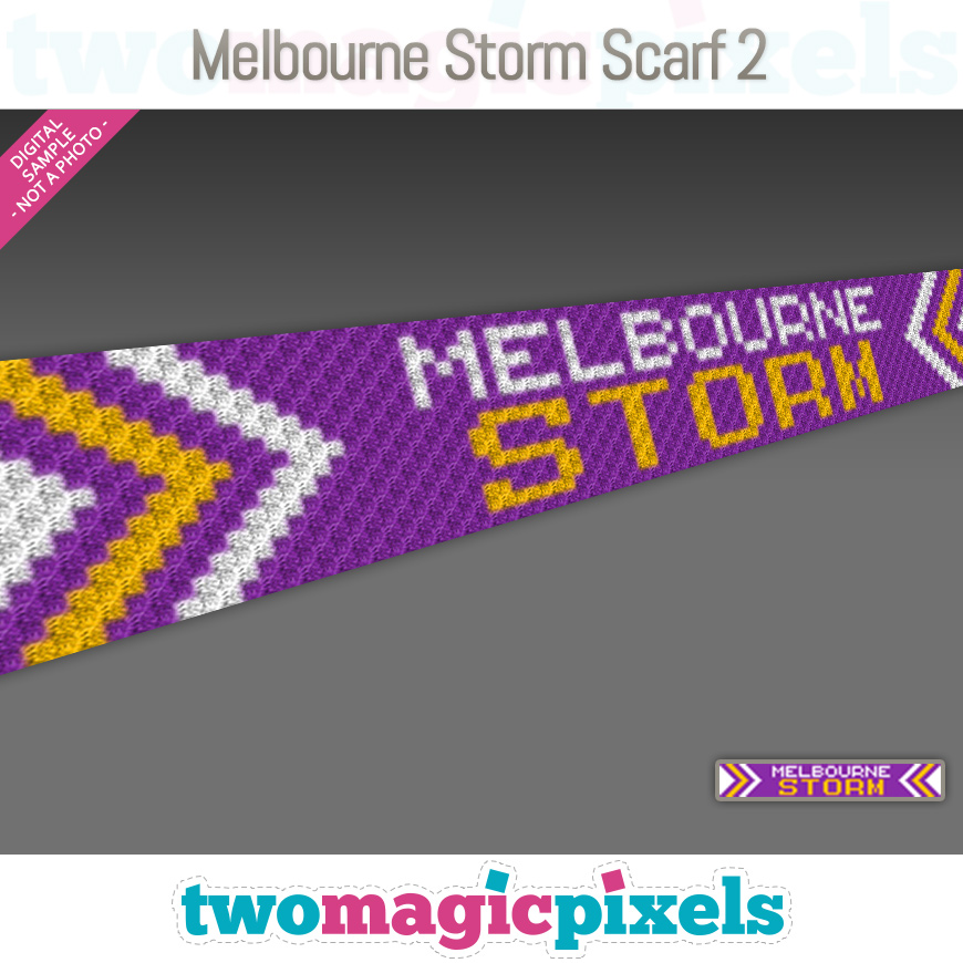 Melbourne Storm Scarf 2 by Two Magic Pixels