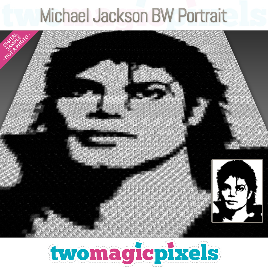 Michael Jackson BW Portrait by Two Magic Pixels