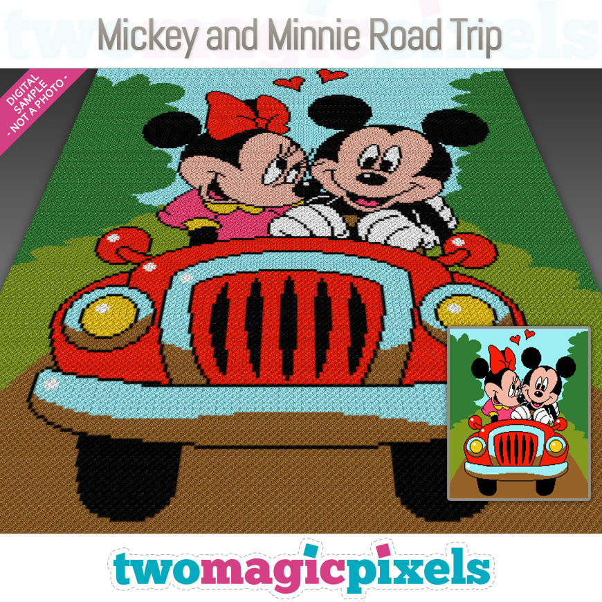 Mickey and Minnie Road Trip by Two Magic Pixels