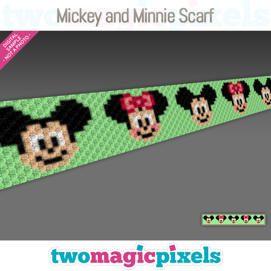 Mickey and Minnie Scarf by Two Magic Pixels