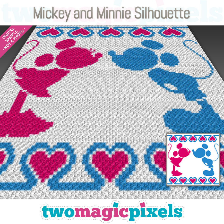 Mickey and Minnie Silhouette by Two Magic Pixels
