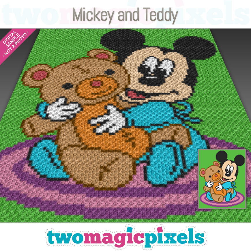 Mickey and Teddy by Two Magic Pixels