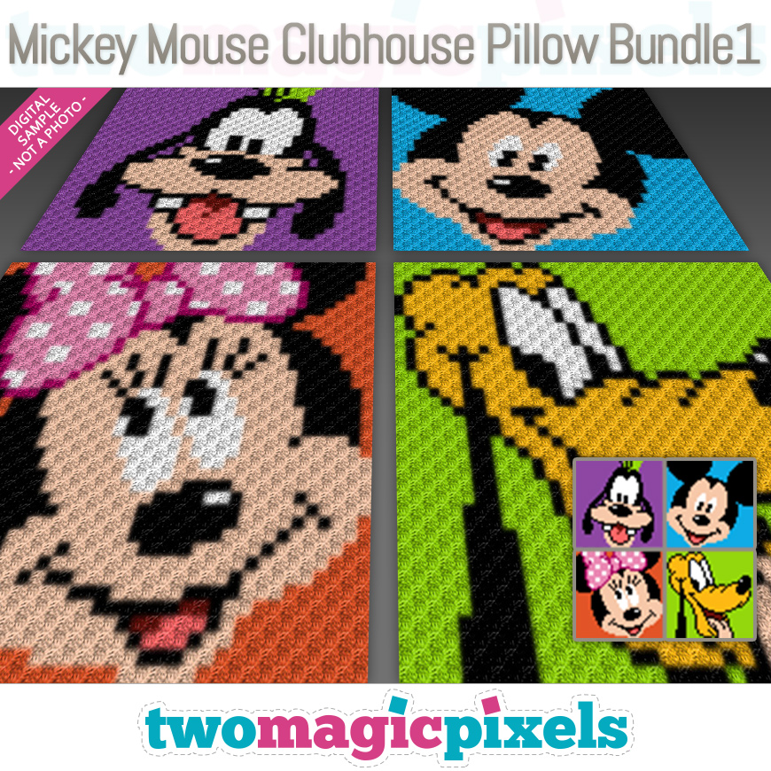 Mickey Mouse Clubhouse Pillow Bundle 1 by Two Magic Pixels