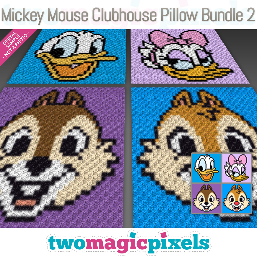 Mickey Mouse Clubhouse Pillow Bundle 2 by Two Magic Pixels