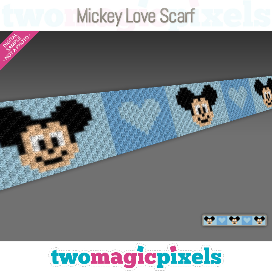 Mickey Mouse Love Scarf by Two Magic Pixels