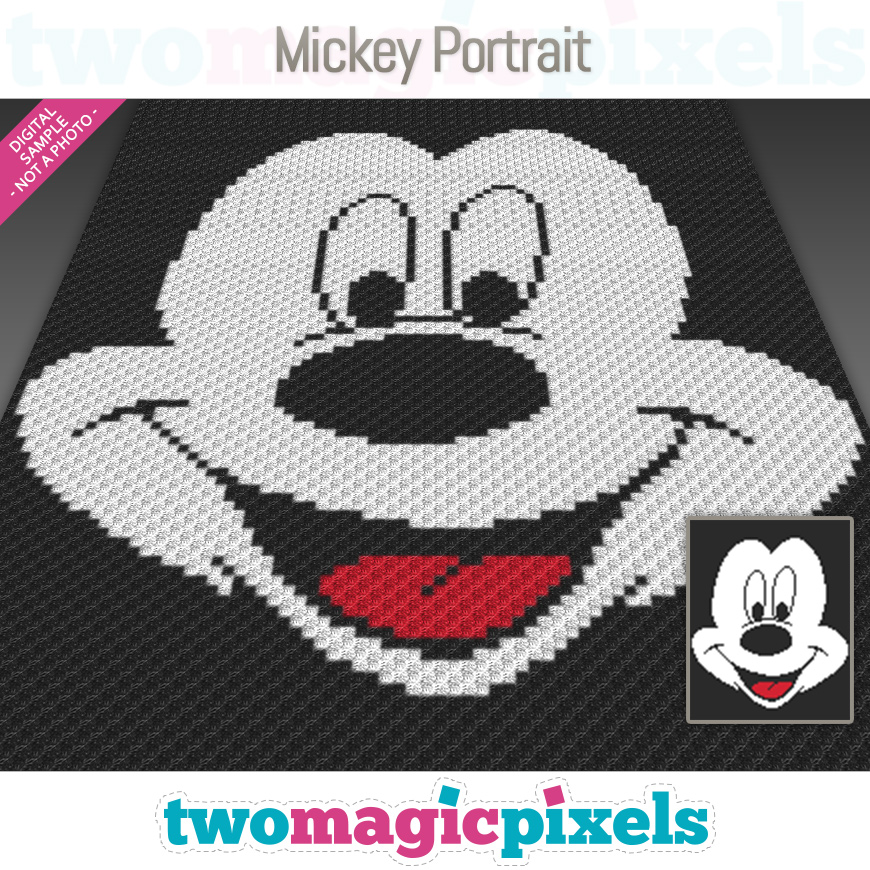 Mickey Portrait by Two Magic Pixels