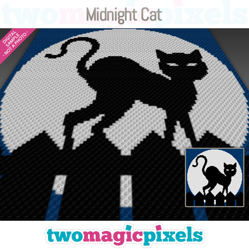 Midnight Cat by Two Magic Pixels