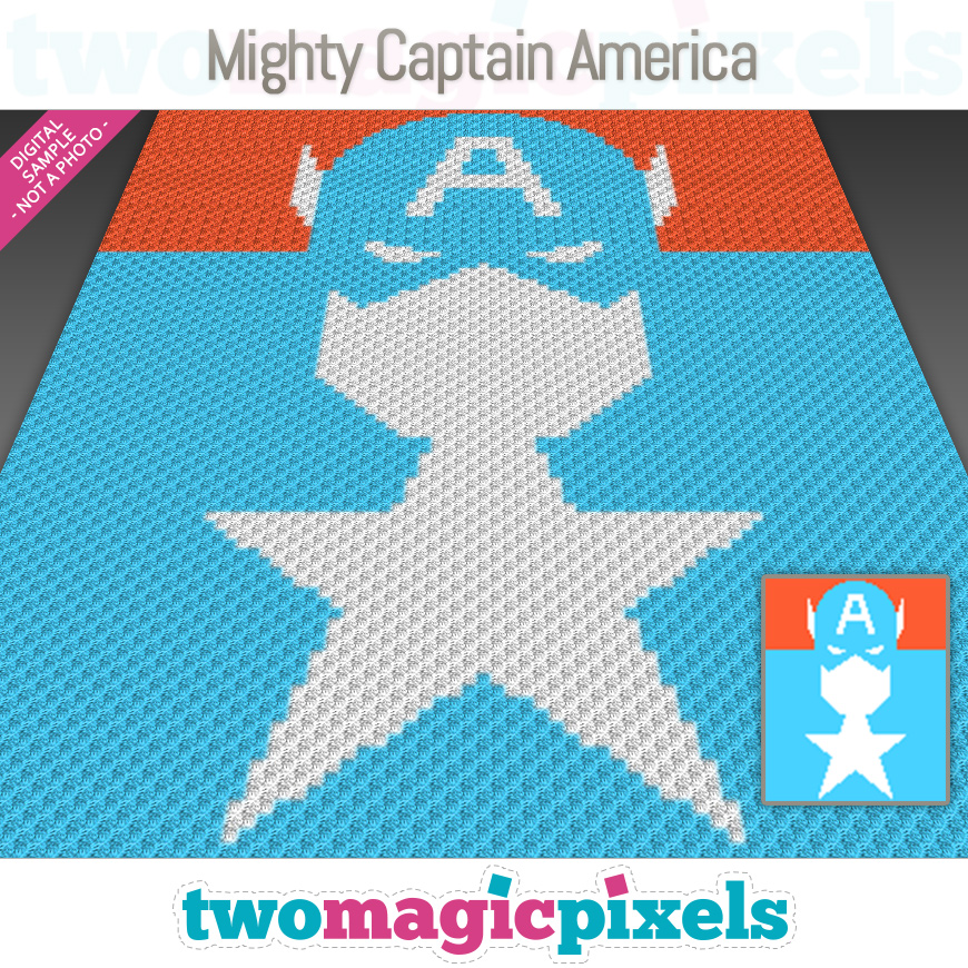 Mighty Captain America by Two Magic Pixels
