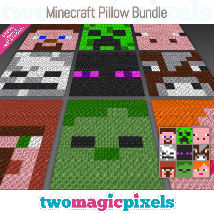 Minecraft Pillow Bundle by Two Magic Pixels