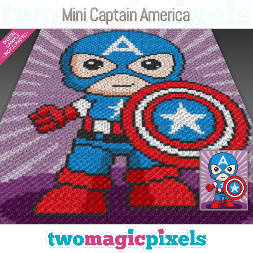 Mini Captain America by Two Magic Pixels