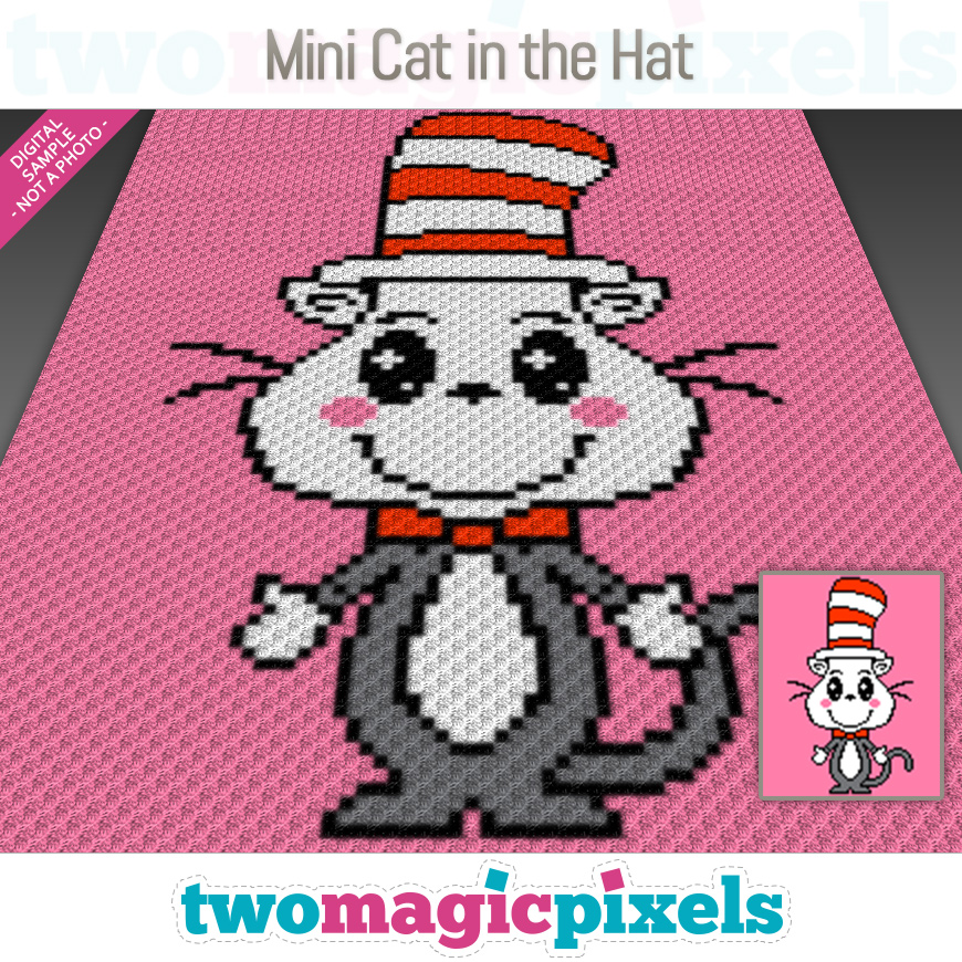 Mini Cat in the Hat by Two Magic Pixels