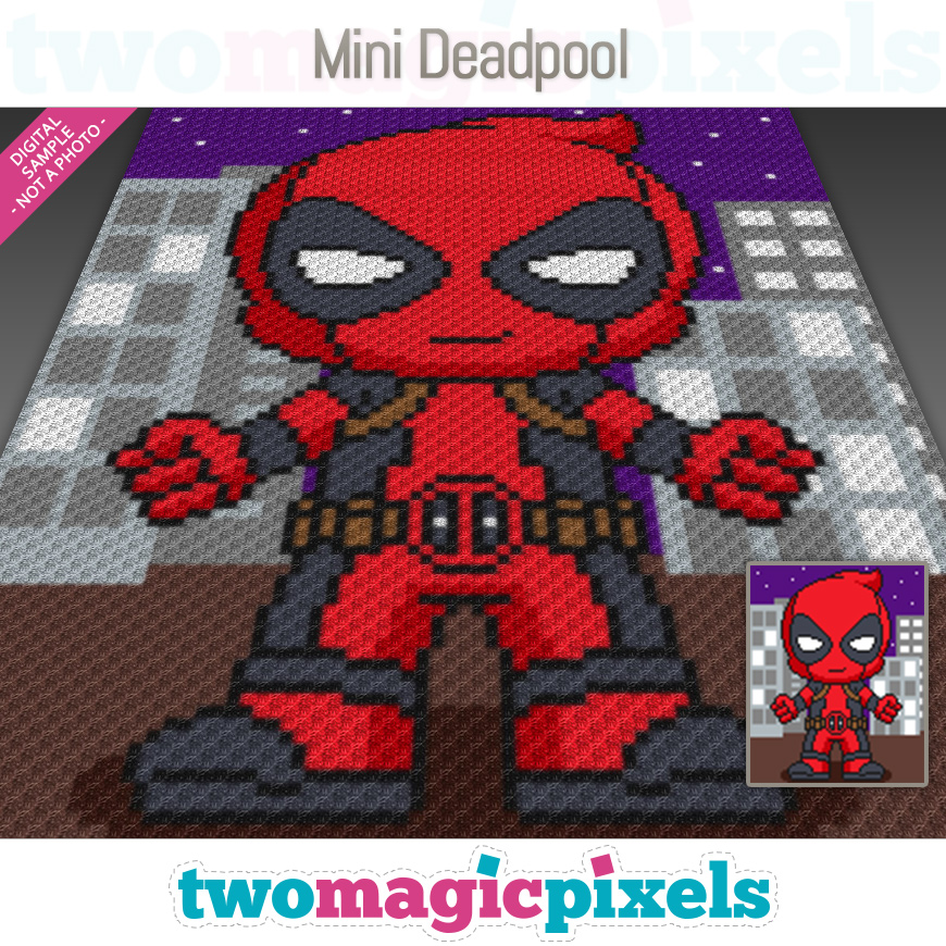 Mini Deadpool by Two Magic Pixels