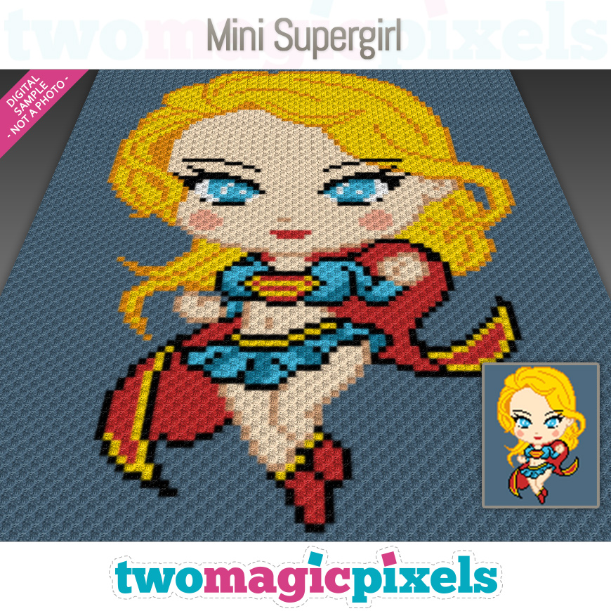 Mini Supergirl by Two Magic Pixels