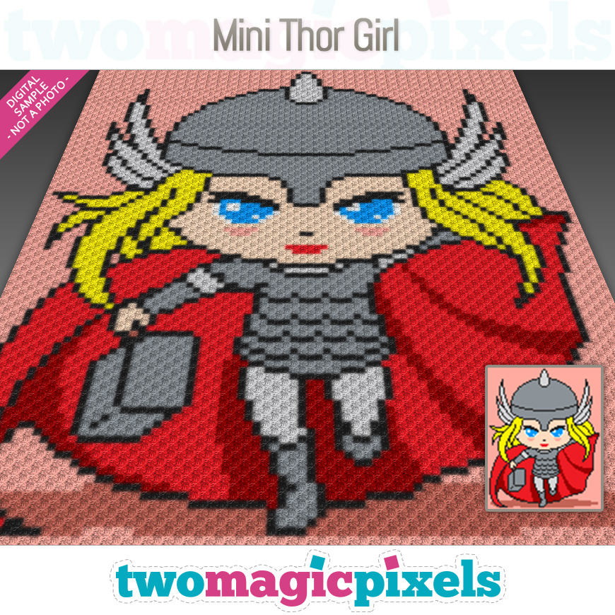 Mini Thor Girl by Two Magic Pixels