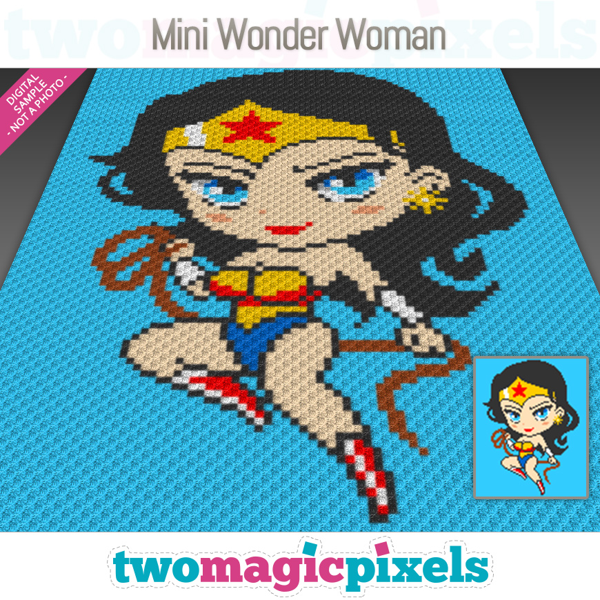 Mini Wonder Woman by Two Magic Pixels