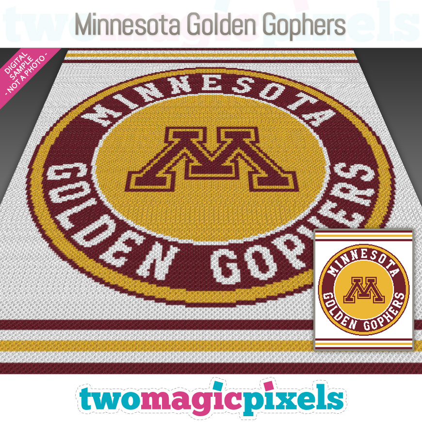 Minnesota Golden Gophers by Two Magic Pixels