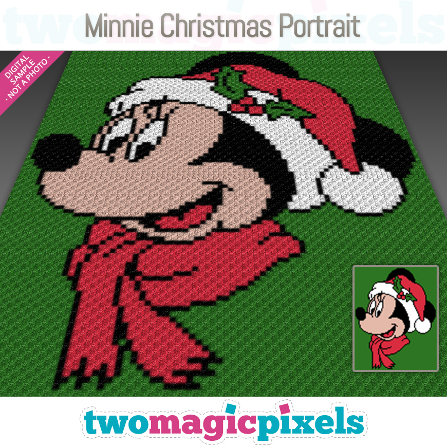Minnie Christmas Portrait by Two Magic Pixels