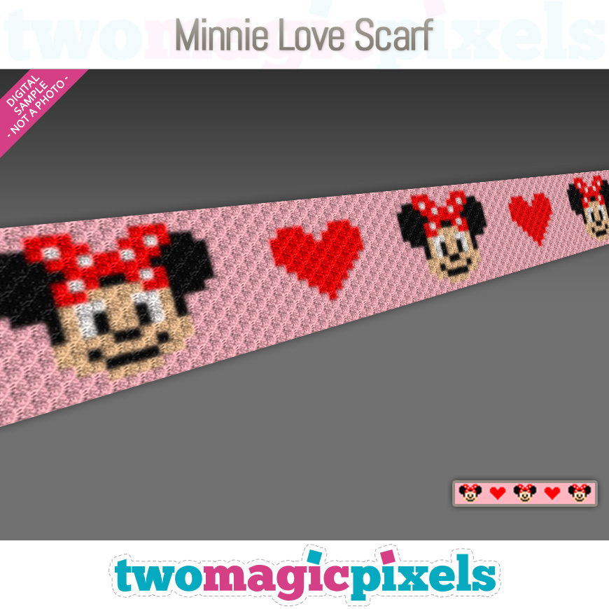 Minnie Love Scarf by Two Magic Pixels